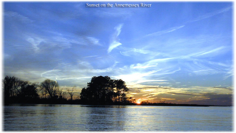 Sunset on the Little Annemessex River